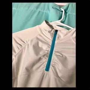 xs white athleta jacket